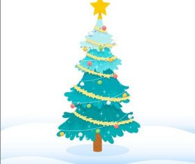 Blue winter christmas tree vector