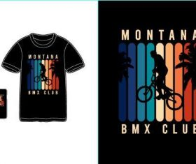 Bmx club T-shirt merchandise print vector
