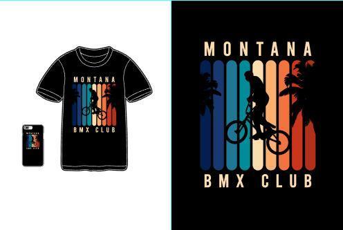Bmx club T shirt merchandise print vector