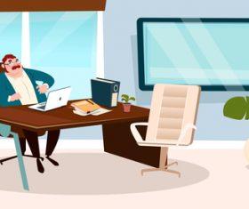 Boss cartoon vector