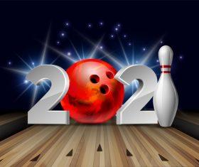 Bowling 2021 digital vector