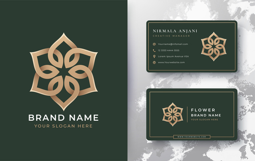 Brand name cover logo design vector
