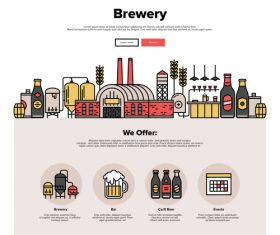 Brewery flat graphic concept vector