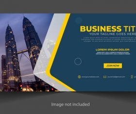 Bright Petronas Twin Towers Business Template Vector