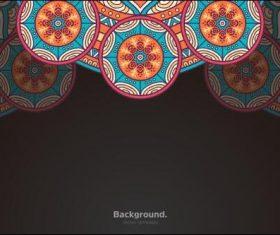 Bright round lace mandala vector