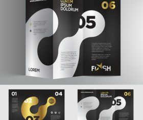 Brochure number golden black vector