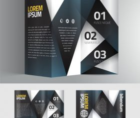 Brochure stripe black vector