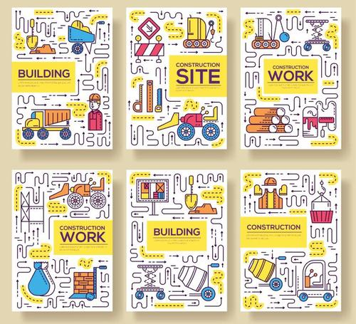 Building cartoon illustration vector