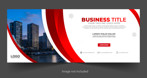 Building group background business template vector