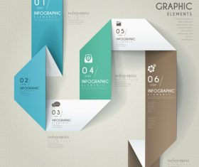 Business infographic elements origami options vector