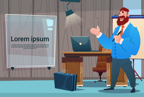 Business manager cartoon vector