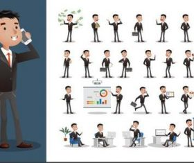 Business person cartoon vector