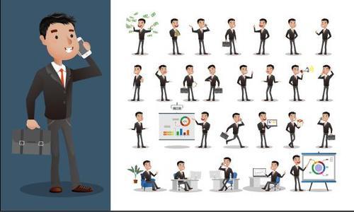 Business person cartoon vector