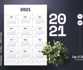 Calendar link 2021 vector