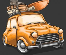 Car hand drawn illustration vector