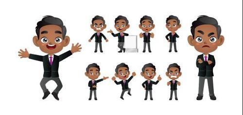 Cartoon character expression vector