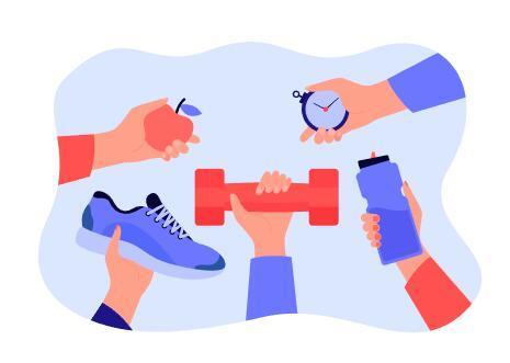 Cartoon illustration sport element vector