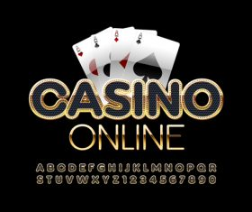 Casino letters numbers vector