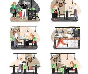 Catering industry cartoon vector
