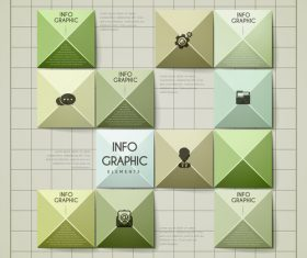 Checkered business infographic element options vector