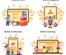 Children education cartoon illustration vector