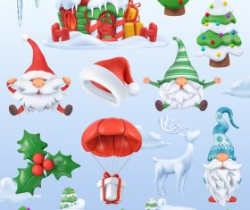 Christmas 3d icon illustration vector