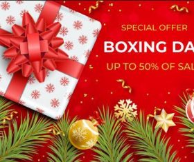 Christmas business promotion flyer vector
