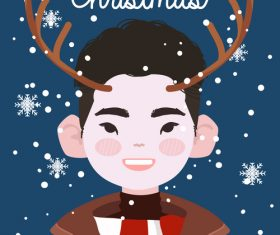 Christmas character decoration cartoon vector