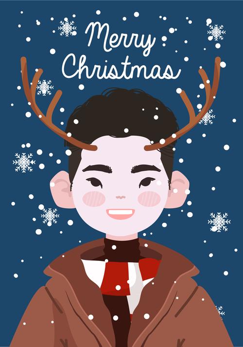 Christmas character decoration cartoon vector