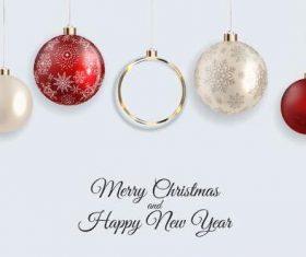Christmas decoration hanging ball vector