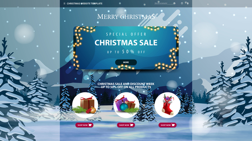 Christmas gift Special offer flyer vector
