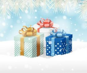 Christmas gift background vector for family