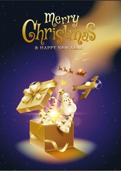 Christmas gift card vector that children love