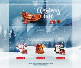 Christmas limited time promotion flyer vector