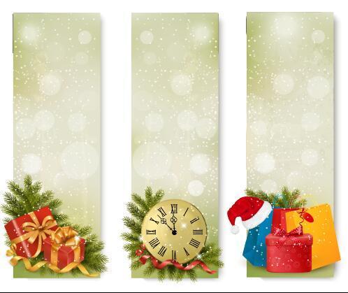 Christmas sale countdown banner vector