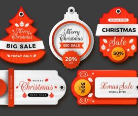 Christmas sale label vector