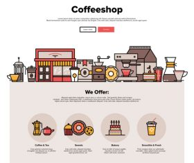 Coffeeshop flat graphic concept vector