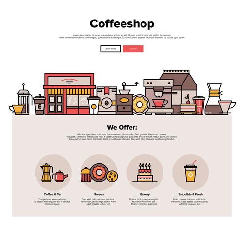 Coffeeshop flat graphic concept vector