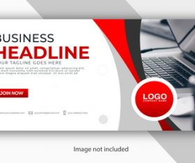 Colorful background business template vector