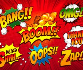 Colorful comic bubbles vector