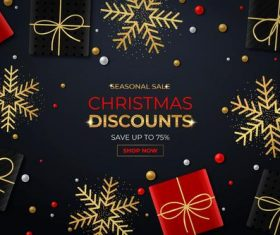 Come rush to buy Christmas sale flyer vector