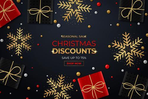 Come rush to buy Christmas sale flyer vector