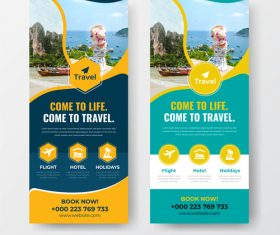Come to life come to travel flyer vector