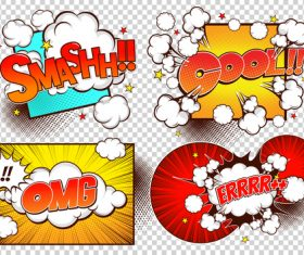 Comic frame bubbles vector