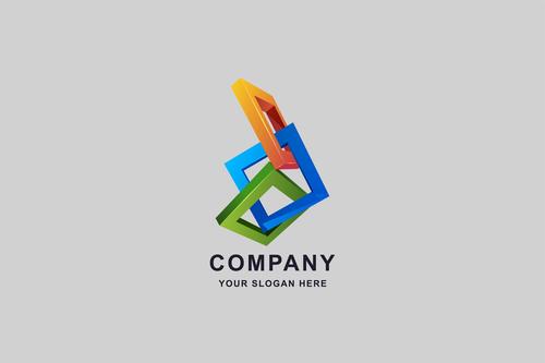 Company 3d square pattern design vector