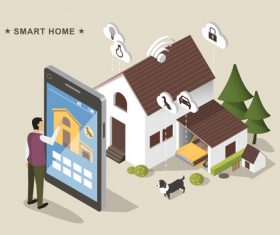 Concept smart home vector