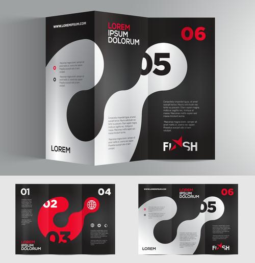 Corporate tri fold brochure vector