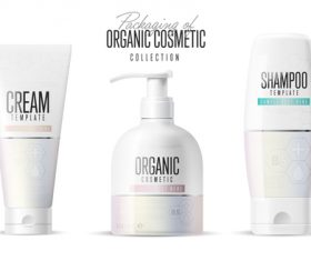 Cosmetic packing design vector
