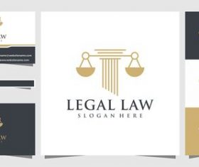 Cover logo design Legal law vector