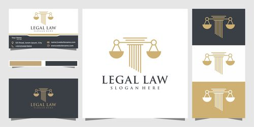 Cover logo design Legal law vector